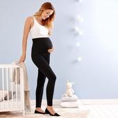 Комфортные леггинсы для беременных из био - хлопка Tchibo(германия) р 40/42 евро=46/48 синий