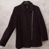 Стильное пальто бордового цвета , шерсть ! УП скидка 10%