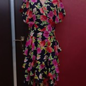 Бомбическое платье цветы валаны