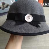 Шерстяная серая шляпа