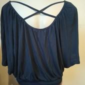 Темно синя блузка , стан нової
