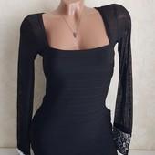 Шикарное бандажное платье размера л