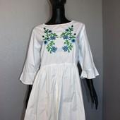 Качество! Белоснежное платье/вышивка удлиненная спинка от Atmosphere в новом состоянии