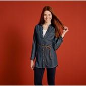 Суперская джинсовая рубашка туника Esmara Германия размер евро 40, без пояска!