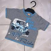 Стоп! ❤Крутяцкая футболочка с машинкой,на годик❤Собирайте лоты,экономьте на доставке