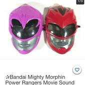 Bandai Toys маска красного рейнджера из фильма «Могучие рейнджеры» со звуковыми эффектами !!!!