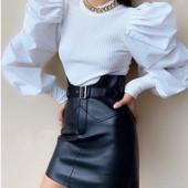 Модная юбка из эко кожи, 42,44,46,48