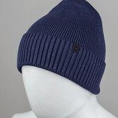 """Мужская шапка """"Fleece"""" синяя"""
