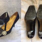Туфли одни на выбор р.36-37, кожаные