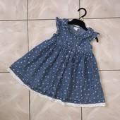 Стоп! ❤Джинсовые фирменное платьице для девочки с прошвой,2 годика❤ много лотов