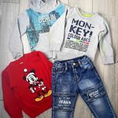 джинсы, реглан, свитер