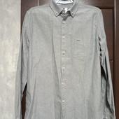 Фирменная красивая коттоновая рубашка под джинс р.14 на поб пог-53