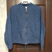 Фирменная льняная куртка-пиджак под джинс в хорошем состоянии р.14.
