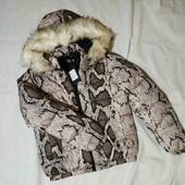 ❤️Стильная объемная куртка в актуальный змеиный принт ❤️