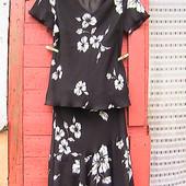 красивый шифоновый костюм 8 евро блуза и юбка