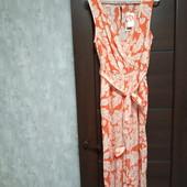 Фирменный новый красивый вискозный комбинезон с брюками-кюлотами р.8-12