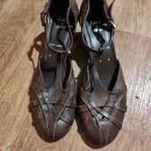 Кожаные туфельки. р.40. Немецкое качество. Сток.
