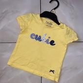 Стоп! ❤Яркая фирменная футболочка с ажурными рукавчиками,1,5--2г.❤Собирайте лоты