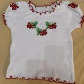 нарядная футболка-вышиванка, размер 64