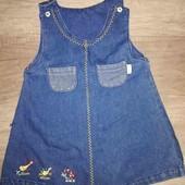 джинсовое платье сарафан 1+1=3