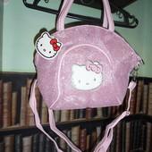 Блестящая розовая сумочка Hello Kitty с глитером