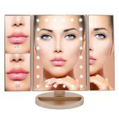 Зеркало с подсветкой для макияжа косметическое зеркало с подсветкой, тройное зеркало для макияжа