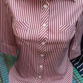 Рубашки в полоску офис. Размер M, L, XL