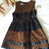 Брендовое леопардовое платье !!!