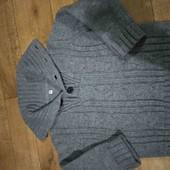 Теплющий свитер с классным воротом