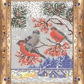"""Схема для вишивки бісером А 4 """"Снігурі"""" тканина атлас,повна зашивка"""