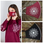 Шикарні маски з вишивкою для всієї родини-найкраща ідея для подарунка!!! можна добирати