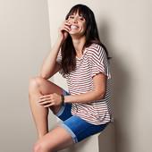 ☘ Стильна блуза в смужку від Tchibo (Німеччина), р .: 54-56 (48/50 євро)