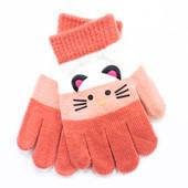 """Детские перчатки """"Wiskey"""" 4 цветов"""