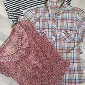 Суперский лот!! Две блузы+футболка!!)) размер 42 смотри описание
