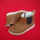 Ботинки челси Clarks натур кожа 26-27 разм 17 см
