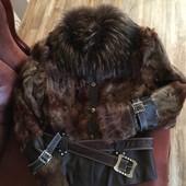 Женская стильная меховая куртка