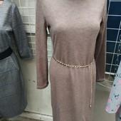 Теплое ангоровое платье -водолазка