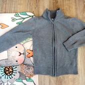 Теплая кофта, свитер на молнии на 5-6 лет. Kihawo