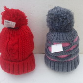 Тёплая зимняя шапка детская на флисе.