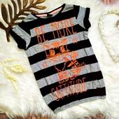 Красивая футболка с кошечкой Kiki&koko, на 4-6 лет