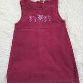 Платье, сарафан вельветовый