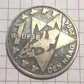 Монета Нидерландов 1 блуфье 2004