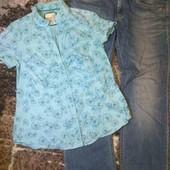 Одним лотом. лёгкая рубашка. джинсы большой размер.