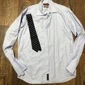 Рубашка M&S Италия на высокого мужчину(замеры) хл-ххл-галстук