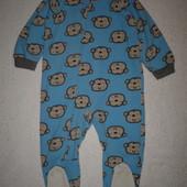 Тепленький флисовый человечек пижама слип поддева Gerber 18-24 мес на р.80-86 до 89 см