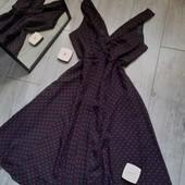 Очень нарядное платье в мелкие розовые кввдратики