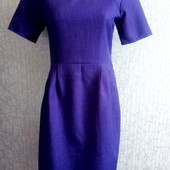 Фиолетовое офисное платье