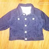 Куртка вельвет на меху Gap р6-12мес
