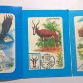 Календарики СССР Марки 6 шт 1980-87