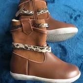 Кожаные ботинки мо вставками натурального замша